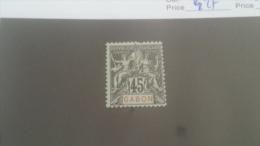 LOT 227663 TIMBRE DE COLONIE GABON NEUF* N�27 VALEUR 42 EUROS