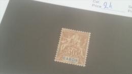 LOT 227664 TIMBRE DE COLONIE GABON NEUF* N�24 VALEUR 19 EUROS