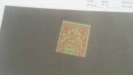 LOT 227666 TIMBRE DE COLONIE GABON NEUF* N�22 VALEUR 18 EUROS