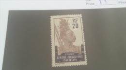 LOT 227667 TIMBRE DE COLONIE GABON NEUF* N�55 VALEUR 19,5 EUROS