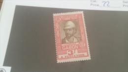 LOT 227674 TIMBRE DE COLONIE GABON NEUF* N�22 VALEUR 16 EUROS