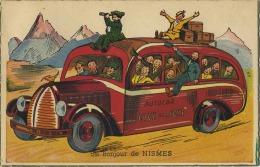 Nismes :  Un Bonjour De   (  Autobus :  Carte Ecrit Avec Timbre ) - Sin Clasificación