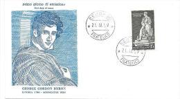 ITALIA  1959 G C BYRON   FDC - F.D.C.