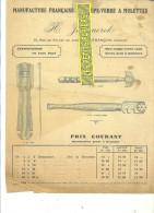 25 - Doubs - BESANCON - Facture JEANNERET - Manufacture De Coupe-verre à Molettes – 0000 - REF 117 - 1900 – 1949
