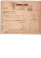 EVREUX à MOISSAC Facture Etablissements ALBERT & CILG 49 Bis Et 51 Rue Maillot EVREUX--voir Scans - France