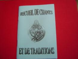 1ER REGIMENT DE TIRAILLEURS / RECUEIL DE CHANTS ET DE TRADITIONS - Livres, Revues & Catalogues