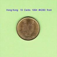 HONG KONG   10  CENTS  1994   (KM # 66) - Hong Kong