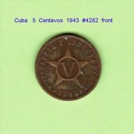 CUBA   5  CENTAVOS  1943   (KM # 11.2) - Cuba