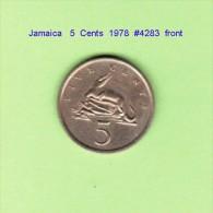 JAMAICA   5  CENTS  1978   (KM # 53) - Jamaica