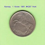 NORWAY   1  KRONE  1961  (KM # 409) - Norway