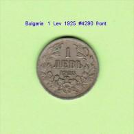 BULGARIA   1  LEV  1925  (KM # 37) - Bulgaria