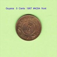 GUYANA   5  CENTS  1967  (KM # 32) - Guyana