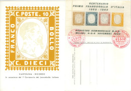 Cartolina E Erinnofili 100 Francobollo Italiano C41 - Erinnophilie