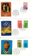 GERMANY Complete Set On Three Covers Including Pierre De Coubertin With First Day Cancel München 2 - Ete 1972: Munich