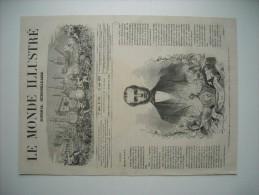 GRAVURE 1863. L'ARCHIDUC MAXIMILIEN D'AUTRICHE, APPELE PAR LE VOTE DE LA JUNTE AU TRONE DU MEXIQUE. AVEC EXPLICATIF.