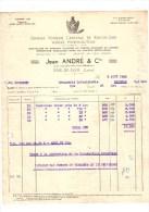 RIVE DE GIER à MOISSAC-facture -jean ANDRE VERRERIE RIVE DE GIER---voir Scans - France