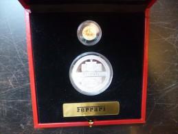 COLLECTION FERRARI . 10 FRANC ARGENT+25 FRANC OR  REPUBLIQUE DU CONGO 2004 . SUPERBE COFFRET !!!