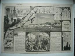 GRAVURE 1863. TURQUIE. LE VIEUX SERAIL A CONSTANTINOPLE. GRAVURES AVEC EXPLICATIF, SUR UN DOUBLE FEUILLET. - Prenten & Gravure