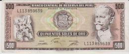 Peru P.110  500 Soles 1975 Xf - Pérou