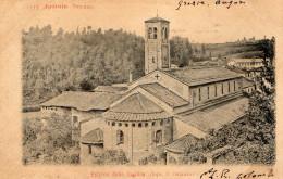 CARTOLINA D'EPOCA DI AGLIATE ESTERNO DELLA BASILICA DOPO IL RESTAURO RARA!!! VIAGGIATA 1901 - Monza