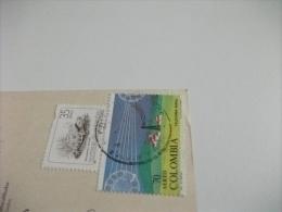 STORIA POSTALE FRANCOBOLLO COMMEMORATIVO  COLOMBIA BOGOTA IGLESIA DE SAN IGNACIO - Colombia