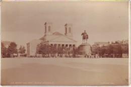La Roche Sur Yon - Place D'Armes - Photo Albuminée Sur Carton Fort - 16,40 Cm X 10,80 Cm - Phot E. Amiaud - Antiche (ante 1900)