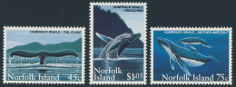 NORFOLK Island 1995 UMPBACK WHALE, Antarctic Wildlife Set Of 3v** - Antarctic Wildlife