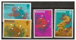 BAHAMAS  - 1974 UPU centenary set of 4 MNH **  SG 424-7  Sc 358-61