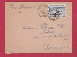Dahomey  //  Enveloppe  //  De Cotonou  //  Pour Paris // 18/2/57 - A.O.F. (1934-1959)