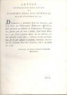 OBSERVACOES HISTORICAS E CRITICAS PARA SERVIREM DE MEMORIAS AO SYSTEMA DA DIPLOMATICA PORTUGUEZA 1798 LISBOA - Livres, BD, Revues