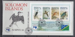 Solomon Islands 1984 AUSIPEX 84, Birds S/S FDC - Sin Clasificación