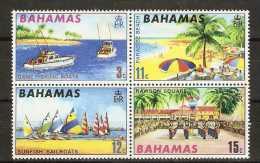 BAHAMAS  - 1969 TOURISM SET OF 4 MNH ** (BLOCK)  SG 333-6  Sc 290-3 - Bahamas (...-1973)