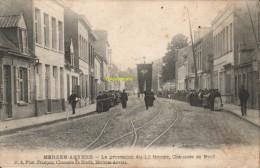 CPA MERXEM ANVERS LA PROCESSION DU 10 FEVRIER CHAUSSEE DE BREDA EDIT FRANCOIS - België