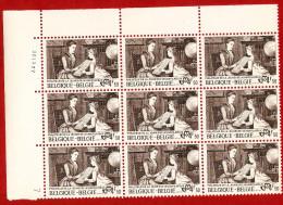 1977  -  BELGIQUE  N°  1869**   Bloc  De  9   Timbres  Neufs - Collections