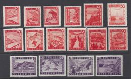 Autriche  1948  Y&T  697-711  **  MNH   Cote: 35.00 - 1945-.... 2nd Republic