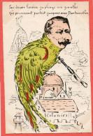 """cpa Satirique illustr�e par LESIEUR  """" par dessus l'oc�an je plonge mes jumelles ...."""" Ministre des Colonies ?"""