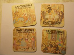 Lot 4 Sous-bocks KANTERBRÄU Maître Kanter - Série -  (2) - Sous-bocks
