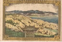 ALLEMAGNE / GERMANY - KIAUTSCHAU KOLONY - 75 PFENNIG 1922 / SERIE A - [12] Colonies & Foreign Banks