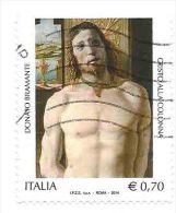 """Italia 2014 ; Bramante Dipinge """"Cristo Alla Colonna"""". Usato . Retro Liscio , Senza Carta. - 6. 1946-.. Repubblica"""