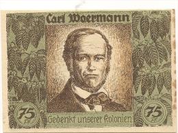 ALLEMAGNE / GERMANY - CARL MOERMANN   KOLONIAL - 75 PFENNIG 1922 / SERIE B - [12] Colonie & Banche Straniere