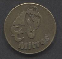 Shopping Carts / Winkelwagentjes / Jeton De Caddie - Mitros Winkelwagen Piek ( Gulden ) - Trolley Token/Shopping Trolley Chip