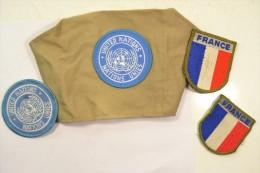 Ensemble Casque Bleu Armée Française Années 1980 - 1990, Kosovo - Equipement