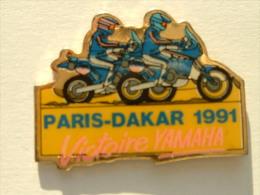 PIN´S PARIS DAKAR 1991 - VICTOIRE YAMAHA - Motorbikes