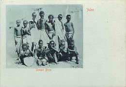 Pays Divers- Ref C616- Yemen - Aden - Somali Boys - Carte Bon Etat  -postcard In Good Condition - - Yémen