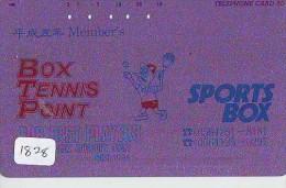 Télécarte Japon * Sport * TENNIS (1828)  * PHONECARD JAPAN * TELEFONKARTE * - Sport
