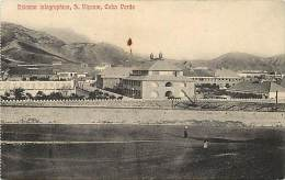 Pays Divers- Ref C601- Cap Vert - Cabo Verde - Estacao Telegraphica - S Vicente   - Carte Bon Etat  - - Cap Vert