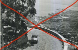 X CORSA AUTOMOBILISTICA IN SALITA SUL MONTE PELLEGRINO ANNI  50 AUTOMOBILISMO SPORT AUTO CAR FOTO AGENZIA 12X18 - Sport