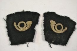 Paire De Pattes De Collet En Feutrine Et Corps De Chasse Cannetille France WW1 / WW2 - Patches