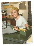 CP - JEUNE FILLE - SECRETAIRE - MACHINE A ECRIRE - BUREAU- FICHES - STE CATHERINE-EDIT. PICARD - LA ROSE 342 - Women