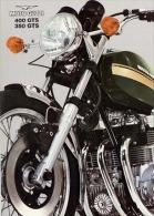 Moto Guzzi 350-400 GTS 1975 Depliant Originale Genuine Brochure Prospekt - Moteurs